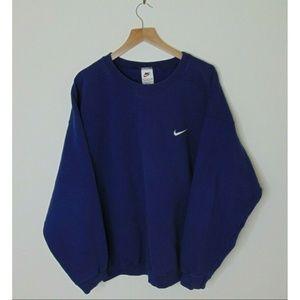 Vintage 90s Nike XL Crewneck Sweatshirt Basic Blue
